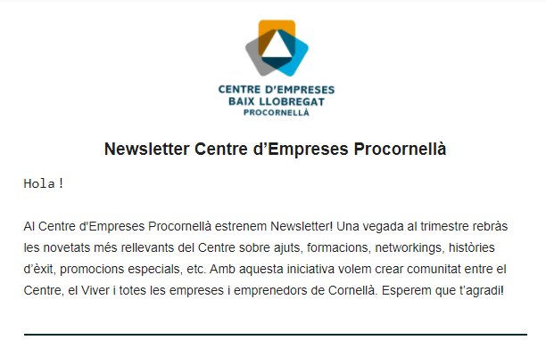 Nova newsletter del Centre d'Empreses